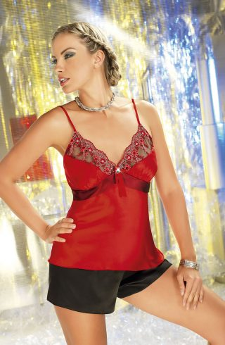 irall-salome-red-black-short set