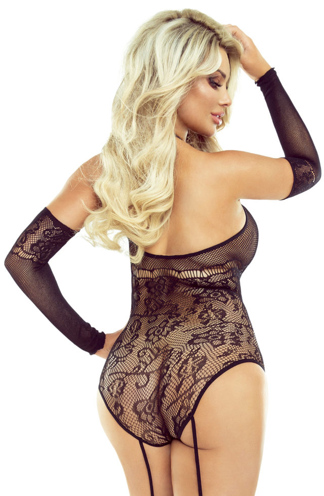 ladies black fishnet bodystocking by provocative pr1506